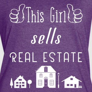 This Girl Sells Real Estate for Property Managers - Women's Vintage Sport T-Shirt