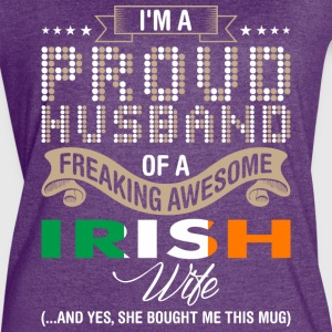Im A Proud Husband Of A Freaking Awesome Irish Wif - Women's Vintage Sport T-Shirt