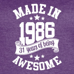 Made in 1986 awesome 30 years of being T-Shirt - Women's Vintage Sport T-Shirt