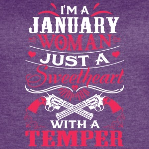 I'm a january woman Just a sweetheart with a tempe - Women's Vintage Sport T-Shirt
