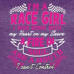 I'm a race girl I was born with my heart - Women's Vintage Sport T-Shirt