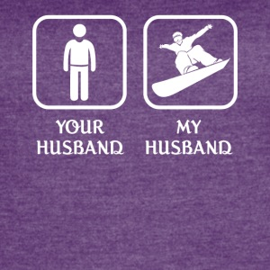 Husband Snowboarding Love- cool shirt,geek hoodie - Women's Vintage Sport T-Shirt