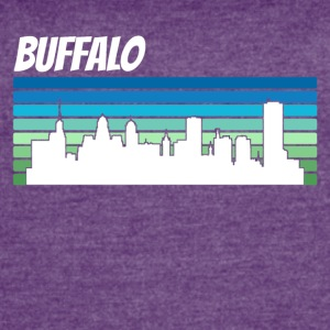 Retro Buffalo Skyline - Women's Vintage Sport T-Shirt