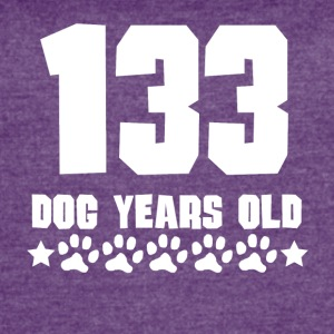 133 Dog Years Old Funny 19th Birthday - Women's Vintage Sport T-Shirt