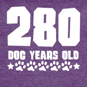 280 Dog Years Old Funny 40th Birthday - Women's Vintage Sport T-Shirt