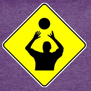 Volleyball Player Crossing Sign - Women's Vintage Sport T-Shirt