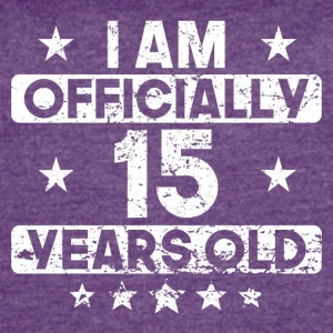 I Am Officially 15 Years Old 15th Birthday - Women's Vintage Sport T-Shirt