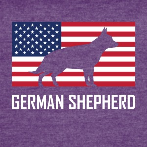 German Shepherd American Flag - Women's Vintage Sport T-Shirt