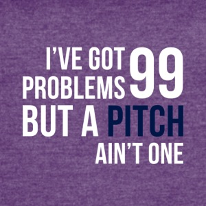 99 Pitches (White & Indigo) - Women's Vintage Sport T-Shirt