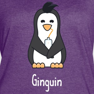 Ginguin - A penguin who really loves gin - Women's Vintage Sport T-Shirt