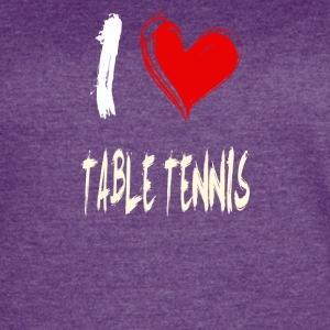 I love TABLE_TENNIS - Women's Vintage Sport T-Shirt