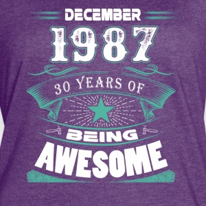December 1987 - 30 years of being awesome - Women's Vintage Sport T-Shirt