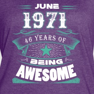 June 1971 - 46 years of being awesome - Women's Vintage Sport T-Shirt