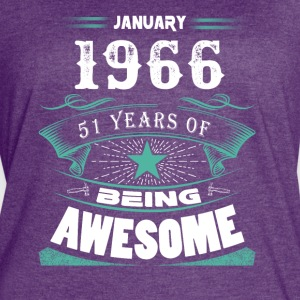 January 1966 - 51 years of being awesome (v.2017) - Women's Vintage Sport T-Shirt