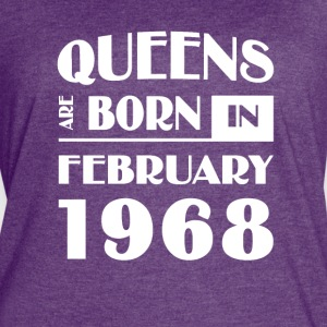 Queens are born in February 1968 - Women's Vintage Sport T-Shirt