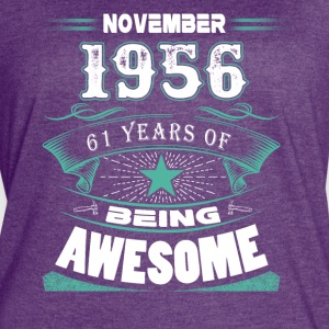 November 1956 - 61 years of being awesome - Women's Vintage Sport T-Shirt