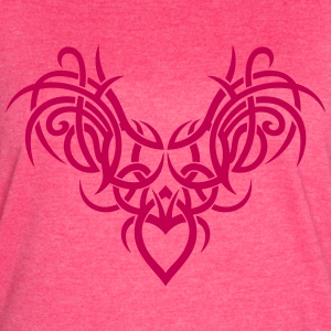 Tribal ornament with wings and heart. - Women's Vintage Sport T-Shirt
