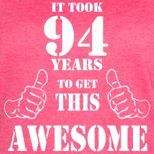 94th Birthday Get Awesome T Shirt Made in 1923 - Women's Vintage Sport T-Shirt