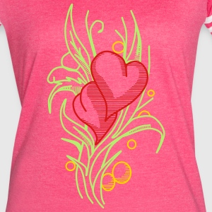 Flower with Hearts - Women's Vintage Sport T-Shirt