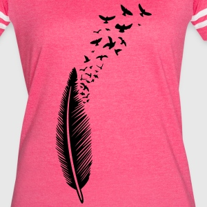 Feather with birds - Women's Vintage Sport T-Shirt