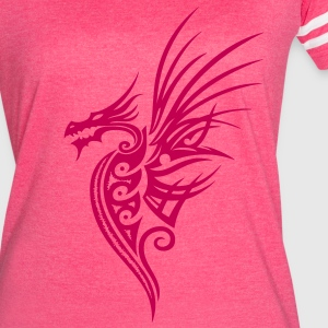 Fantasy dragon with big wings. - Women's Vintage Sport T-Shirt
