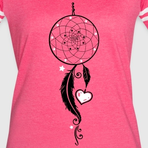 Dreamcatcher with heart and feathers, girlie style - Women's Vintage Sport T-Shirt