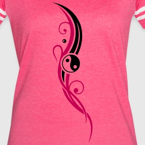 Yin & Yang symbol, Tribal and Tattoo Style. - Women's Vintage Sport T-Shirt