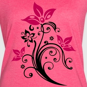 Flowers with filigree floral ornament. - Women's Vintage Sport T-Shirt