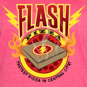 Flash Pizza Central City - Women's Vintage Sport T-Shirt