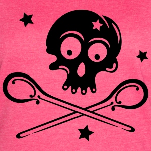 Skull with spoons and stars. - Women's Vintage Sport T-Shirt