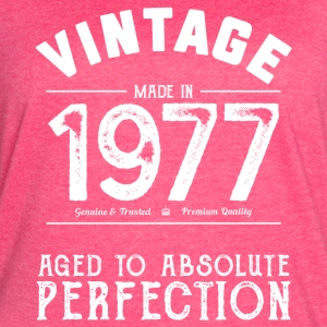Funny 40th Birthday Present Vintage Made in 1977 - Women's Vintage Sport T-Shirt