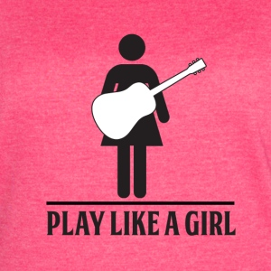 Play like a Girl - Acoustic - Women's Vintage Sport T-Shirt