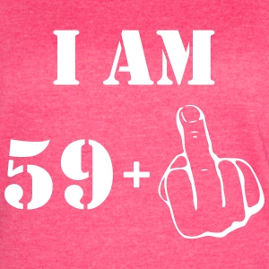 60th Birthday T Shirt 59 + 1 Made in 1957 - Women's Vintage Sport T-Shirt
