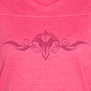 Filigree calligraphy heart with crown - Women's Vintage Sport T-Shirt