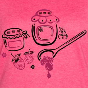Large jars with jam and fruits - Women's Vintage Sport T-Shirt