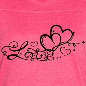 Two hearts in love with lettering - Women's Vintage Sport T-Shirt