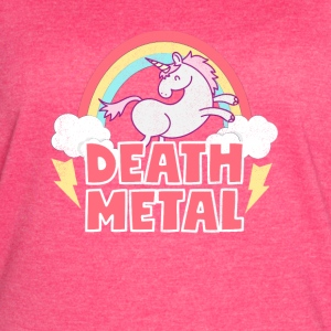 Death Metal Unicorn Thunder Rainbow Clouds Unicorn - Women's Vintage Sport T-Shirt