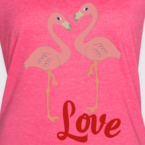 flamingo in love - Women's Vintage Sport T-Shirt