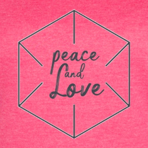 Peace and love - Women's Vintage Sport T-Shirt