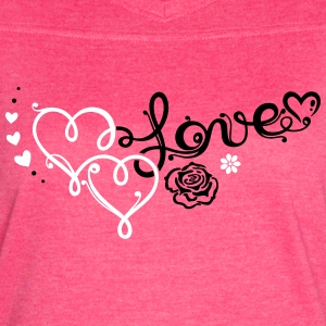 Two big hearts with rose - Women's Vintage Sport T-Shirt
