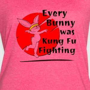 Every Bunny was Kung Fu Fighting - Women's Vintage Sport T-Shirt