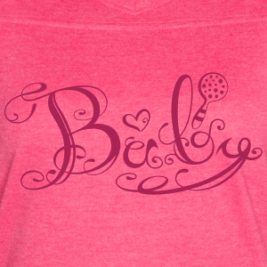 Baby lettering with heart and rattle - Women's Vintage Sport T-Shirt