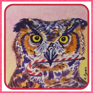 Candy Cane Owl - Women's Vintage Sport T-Shirt