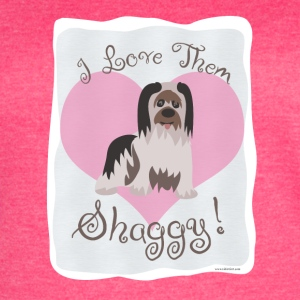 I Love Shaggy Dogs - Women's Vintage Sport T-Shirt