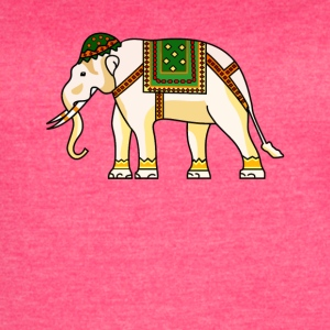 Watercolor Tribal Elephant Clothing Artwork - Women's Vintage Sport T-Shirt