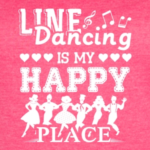 Line Dancing Is My Happy Place Shirt - Women's Vintage Sport T-Shirt