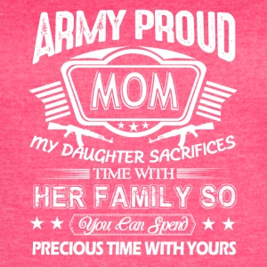 Proud Army Mom Shirt - Women's Vintage Sport T-Shirt