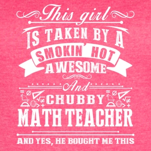 Smokin Hot Awesome Math Teacher Tee Shirt - Women's Vintage Sport T-Shirt