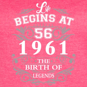 Life begins 56 1961 The birth of legends - Women's Vintage Sport T-Shirt