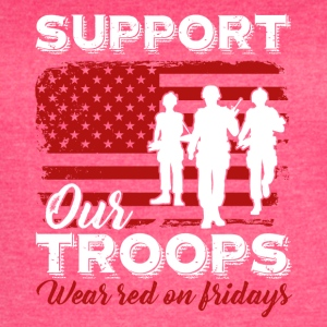 Red Friday Support Our Troops Shirt - Women's Vintage Sport T-Shirt